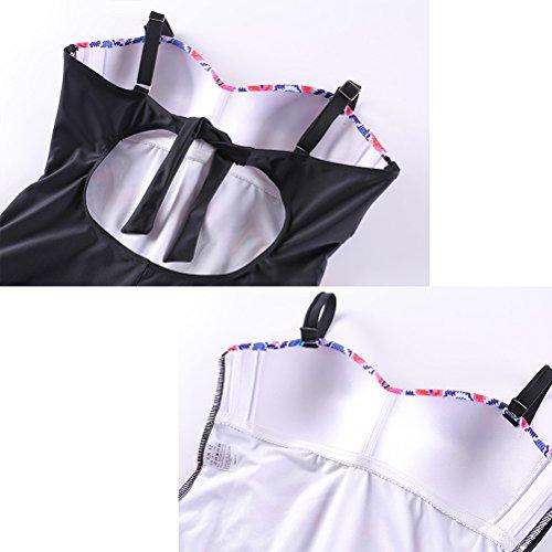 Zhhlinyuan Womens Swimwear Colored Stripes Swimsuit Fashion nadando Dress 7778# Yellow&Pink