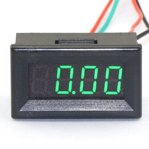DROK 0.36 4 Digits Green LED Panel Ammeter Digital Amperage Current Monitor Meter DC 0-300A