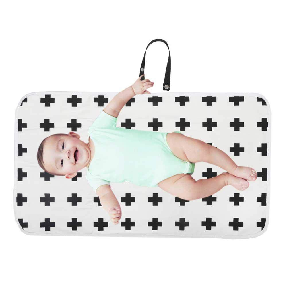 Womdee Portable Diaper Changing Pad Soft Urine Pads Absorbent Blanket Sheet Bed Pads Washable Mattress Change Mat Incontinence Pads for Infant Folding and Waterproof Pad Baby