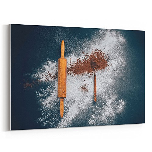 (Westlake Art - Spoon Rollingpin - 16x24 Canvas Print Wall Art - Canvas Stretched Gallery Wrap Modern Picture Photography Artwork - Ready to Hang 16x24 Inch)