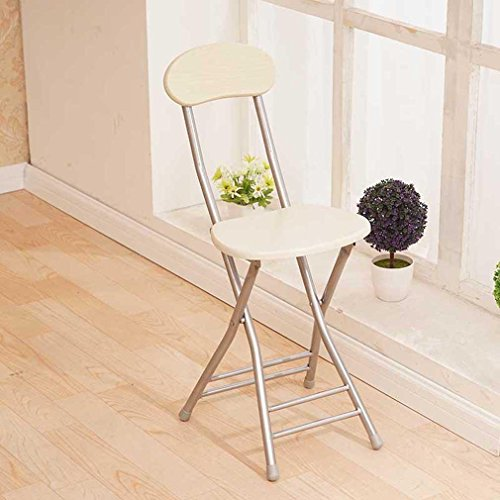 Heruai Interior Office Table Chair Folding Stool Solid Wood Desk Chairs Portable Fishing Stool Outdoor Wooden Bench Metal Stand Round Step Stools Folding Chairs , a by Heruai