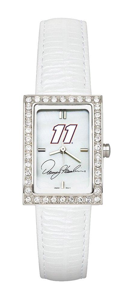 【ご予約品】 Denny Hamlin Hamlin Ladies Ladies Allure Watchホワイトレザーストラップ Allure B002V3FZI6, 馬具職人工房:ef1ea287 --- arianechie.dominiotemporario.com