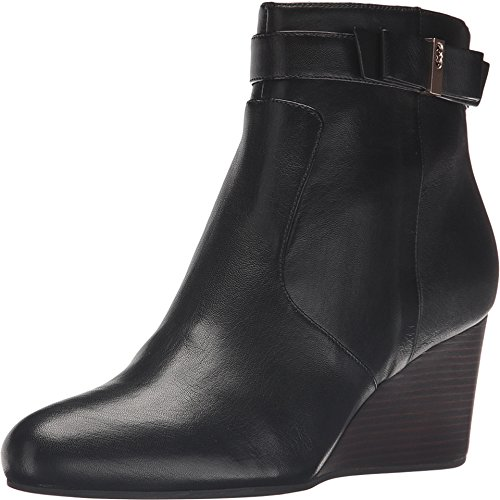 Cole Haan Women's Elsie Bow Bootie Black Leather Boot 9 B (M)