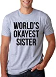 Best T-Line Brother Tee Shirts - World's Okayest Sister T Shirt Funny Sisters Siblings Review
