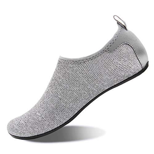 Gray Barefoot Quick Mens Exercise Dry Womens Swim Shoes Beach Silver Water Summer For Aqua And Socks Yoga F0axqYw