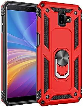 Funda Samsung Galaxy J6 Plus /J6 Prime/J610 con Anillo Soporte,+ HD Protectores de Pantalla,2in1 Dura PC + Suave TPU Silicona Carcasa Híbrido Armadura Bumper Case Cover para Galaxy J6 Plus /J6 Prime: