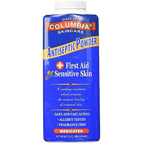 Columbia Skincare Medicated Antiseptic Powder for Sensitive Skin, 14 oz (Pack of 10) by Columbia