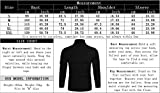 Poriff Men's Basic Turtleneck Pullover Melange