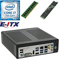 E-ITX ITX350 Asrock H270M-ITX-AC Intel Core i7-7700 (Kaby Lake) Mini-ITX System , 4GB DDR4, 240GB M.2 SSD, WiFi, Bluetooth, Pre-Assembled and Tested by E-ITX