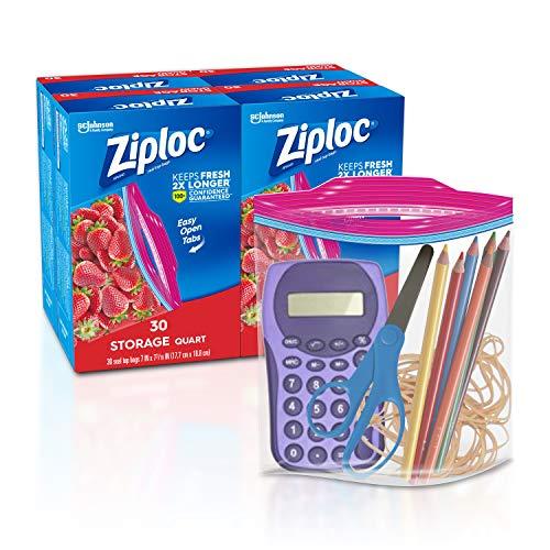 Ziploc Storage Bags, Quart, 4 Pack, 30 ct (120 Total Bags)