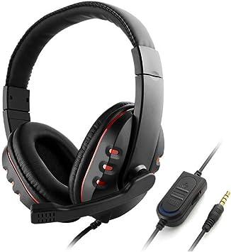 GHTGHTS Auriculares para Juegos de 3.5 mm con Control de Volumen del micrófono para Sony PS4 Playstation 4 para PC: Amazon.es: Electrónica