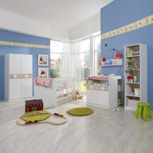 Babyzimmer 8-tlg »BONO« Eiche sägerau - alpinweiß