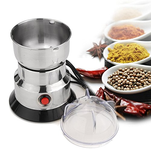Funnytoday365 220V 100W Electric Coffee Grinder Household Grains Bean Grinding Beans Nuts Mill Machine Stainless Steel Blade by FunnyToday365