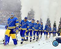 "St. Louis Blues 2017 NHL Winter Classic Team Introduction Photo (Size: 16"" x 20"")"