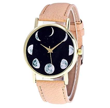 Limpieza de venta! Relojes para mujer, ICHQ Vansvari Moon patrón único analógico moda relojes