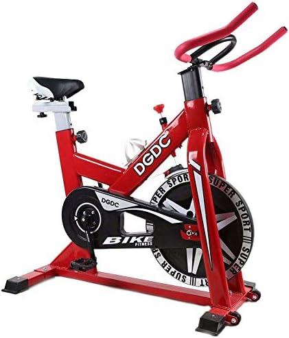 Bicicleta elíptica, bicicleta de spinning, bicicleta de ejercicio ultra silenciosa, máquina de ejercicios para adelgazar cardio, máquinas de fitness para bicicleta de deportes de interior,Rojo: Amazon.es: Deportes y aire libre