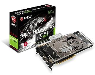 MSI Gaming GeForce GTX 1080 8GB GDDR5X SLI DirectX 12 VR Ready Graphics Card (GTX 1080 SEA HAWK EK X) (B01IBOFNBC)   Amazon price tracker / tracking, Amazon price history charts, Amazon price watches, Amazon price drop alerts