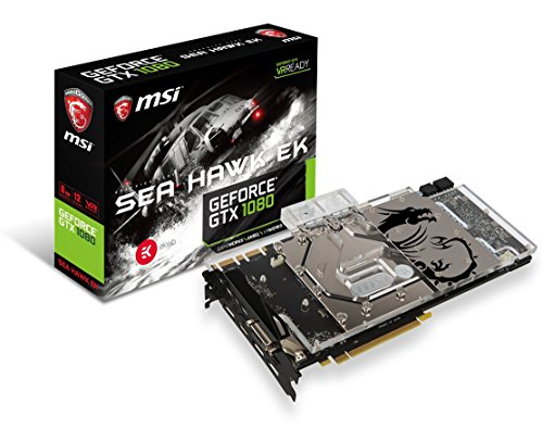 MSI Gaming GeForce GTX 1080 8GB GDDR5X SLI DirectX 12 VR Ready Graphics Card (GTX 1080 SEA HAWK EK X) - Sea Graphic