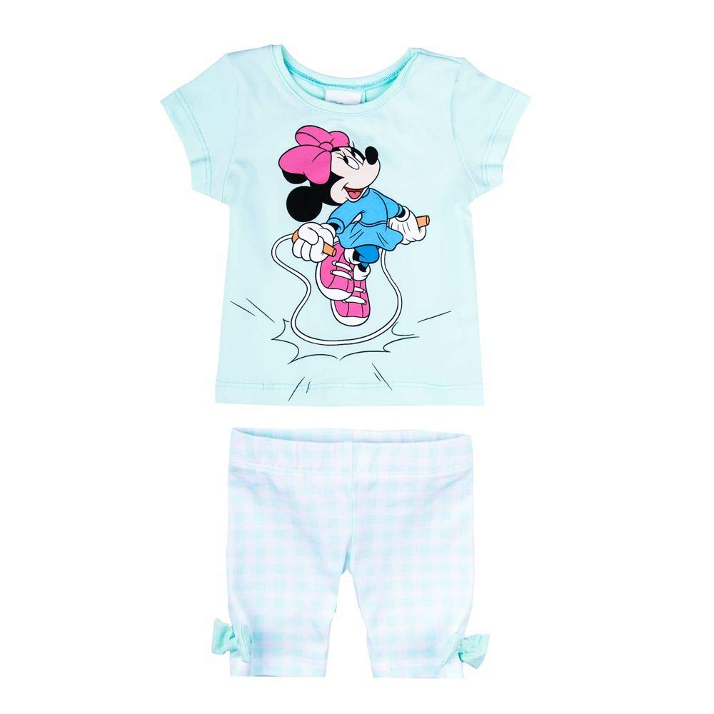 Unterteil T-Shirt Hose Leggings Disney M/ädchen Minnie Mouse Set mintgr/ün