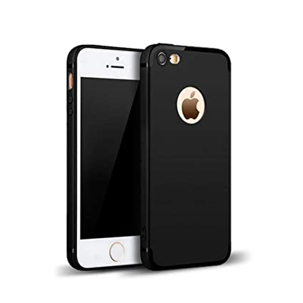 meet 7939a bf248 MOBILIFY Super Protection Anti-Slip Matte Finish Slim Back Case Cover for  Apple iPhone SE / 5S / 5 (Pitch Black) (Black)