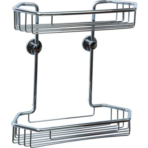 Draad Double Shower Caddy Finish: Chrome by No Drilling Required