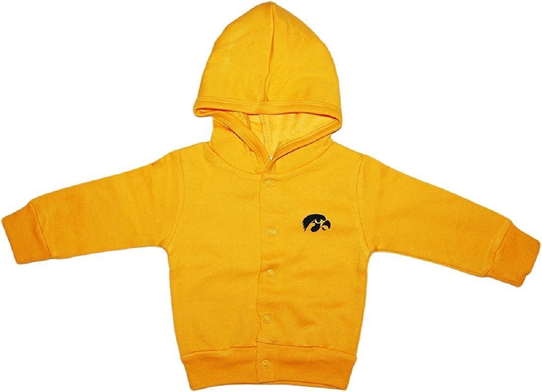 University of Iowa Hawkeyes Newborn Baby Snap Hooded Jacket
