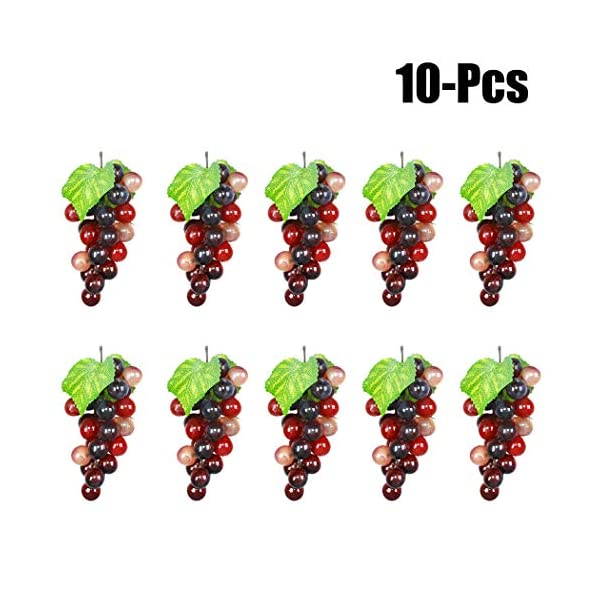 uxcell/® Simulation Craft Cherry Fruits Ornament Cabinet Table Decor 10 Pcs
