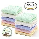 Baby Muslin Washcloths - Natural Organic Cotton Baby Wipes...
