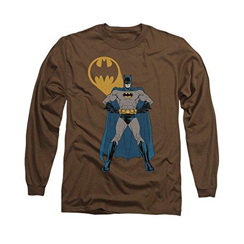 Sons of Gotham Batman Arms Akimbo Bats Adult Long Sleeve T-shirt 2xl