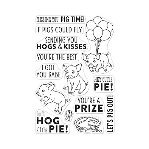 Hero Arts County Fair Pig Clear Unmounted Rubber Stamp Set (CM294)