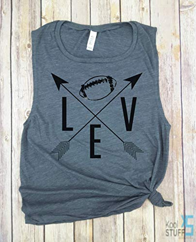 - I Love Football, Arrows BLK Ball, Game Day Tank, Football Sunday Tank Top, Football Season, Sunday Funday, sorority game day shirt