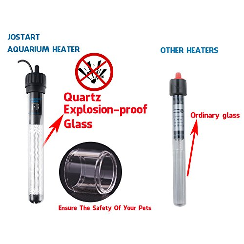 Jostart-Aquarium-Heater-Fish-Tank-Heater-300W-Heating-Rod-Quartz-Explosion-proof-Glass-Visible-Temperature-with-Aquarium-Thermometer-Waterproof-Protective-Container-Intelligent-Chip
