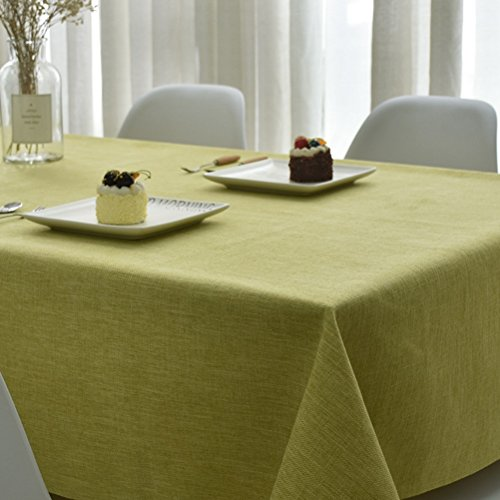 WAN SAN QIAN- Tablecloth Cotton Linen Square TableCover for Kitchen Dinning Tabletop Decoration Summer & Outdoor Picnics Gray, Green Tablecloth (Color : Green, Size : 110x110cm)