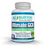 Ulimate GCB 60 count Green Coffee Bean Extract By Burton Nutrition – Chlorogenic Acid – Weight Loss – Appetite Control – Energy Support – Metabolism Boost For Sale