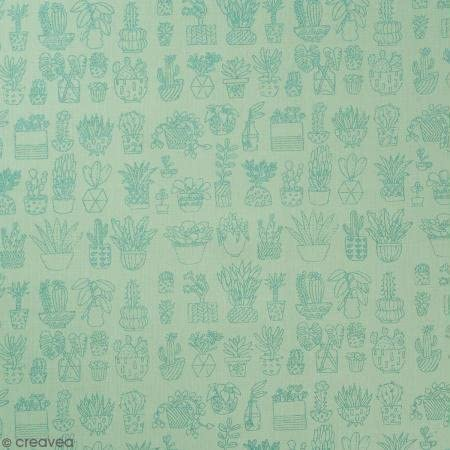 Retal de tela lienzo algodón Made by Me – Cactus Métallisés ...