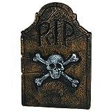 "Amscan Creepy Cemetery Halloween Party Skull & Crossbones Tombstone (1 Piece), Black, 22"""