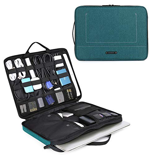 BAGSMART Laptop Sleeve Case with Electronics Accessories Organiser Section Compatible for 13-14 inch Laptop and Laptop Accessories