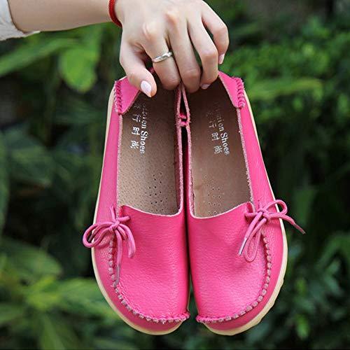 Lace Mocassini Lavoro Multicolore up Moda Loafer Appartamenti Ragazze Caviglia Donne Yudesun Peachblow Pompe Signore Confortevole Scarpe Pelle In z8gqS0p7