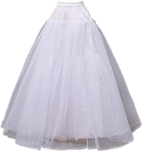 Casual Adjustable Circle Steel Petticoat Skirt Crinoline Underskirt 2 Hoops