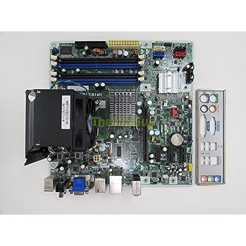 HP 487741-001 IPIEL-LA REV 1.03 Motherboard + C2D E7500 2.93GHz CPU + HSF I/O Pl - X4500hd Graphics