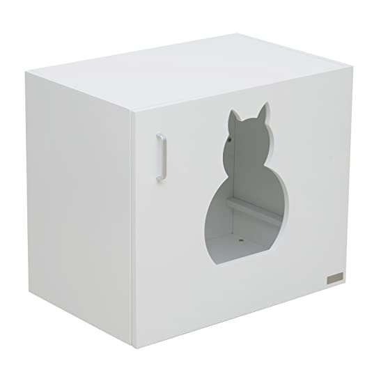 pawhut wooden cat litter box toilet home cabinet pet self cleaning kitty house stand bathroom furniture