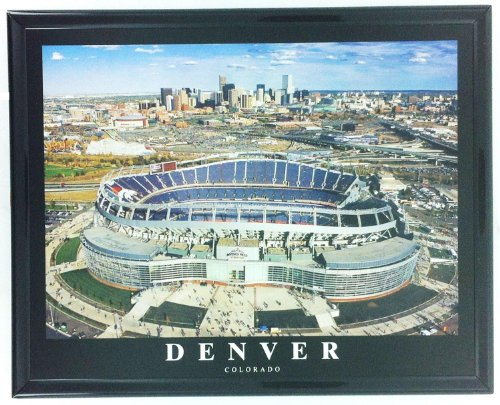 Football Denver Broncos Framed Print Mile High Stadium F7519A