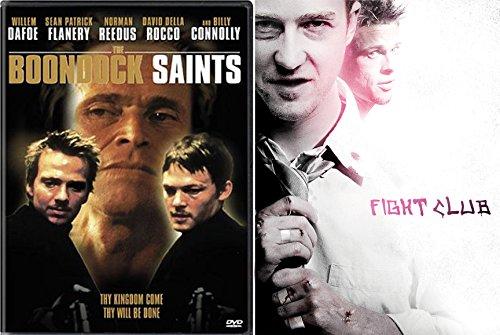 Boondock Saints & Fight Club DVD Crazy Action Bundle Double feature Set