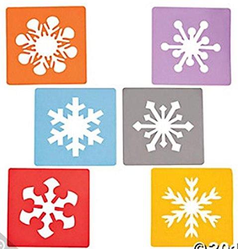 6 ~ Foam Snowflake Stencils ~New