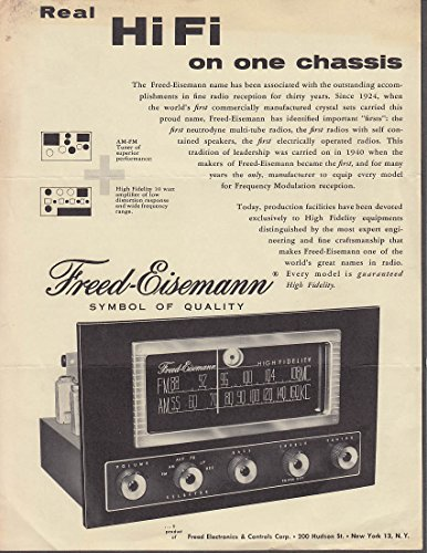 Freed-Eisemann Real HiFi on One Chassis Model 717 & 750 sell sheets 1950s