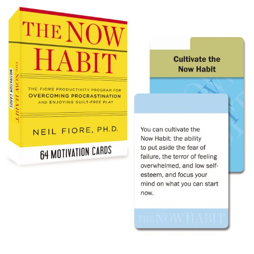 The Now Habit: 64 Motivation Cards: The Fiore Productivity Program for Overcoming Procrastination and Enjoying Guilt-Free Play (Tarcher Inspiration Cards)