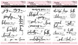 Stamp Simply Clear Stamps Scripture Sentiments Farmhouse TRIO Words of Encouragement Christian Religious 25 Pieces