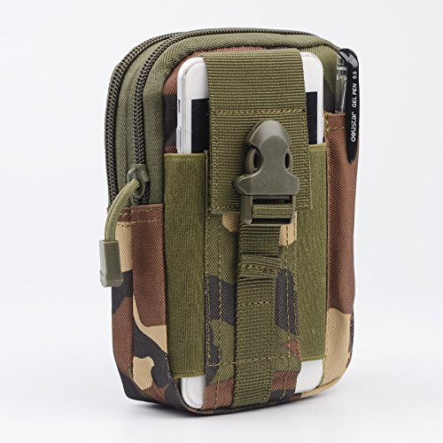Tactical Molle EDC Pouch Compact 1000D Multipurpose Utility Gadget Belt Waist Bag - Camping Hiking Outdoor Gear Gadget Canvas Waterproof Storage Sport Phone Pouch - Cell Phone Holster Holder