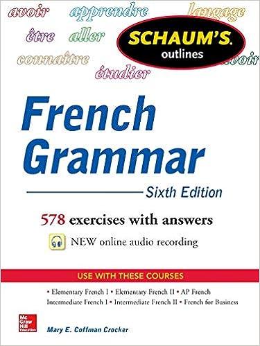 Amazon com: Schaum's Outline of French Grammar (8601400058282): Mary