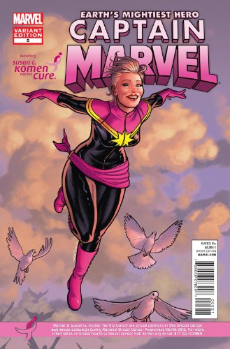 Captain Marvel #5 1st Print Variant Susan g. Komen Breast Cancer - Breast Komen